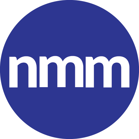 Purple circle with the letters NMM in the middle