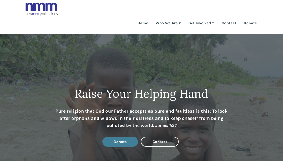 A photo of New Mercy Ministries website
